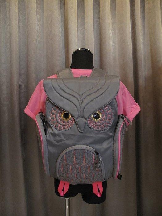 撞色貓頭鷹後背包(L) ,實品拍攝有店面,香港Morn Creations授權🌟最特別的禮物都在奧爾思🌟