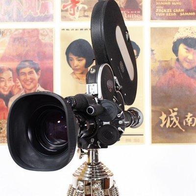 百寶軒 西洋古董德國阿萊Arriflex16毫米16mm電影膠片攝影機帶木腳架8品 ZG3804