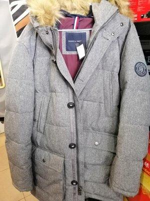 Tommy男長版連帽外套 保暖  時尚