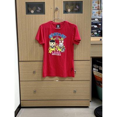 ECSTASY 女 桃紅 印花 短袖 T恤 S 二手