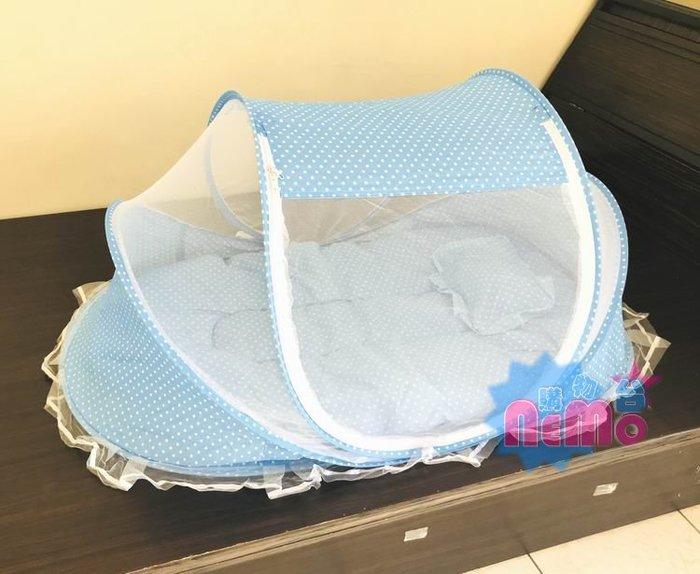 【nemo生活家飾館】可折疊嬰兒睡帳蚊帳-藍色