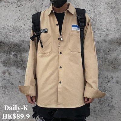 2020年1月23  CHAONANCHAONV#6038  寬鬆款胸口雙口袋長袖shirt