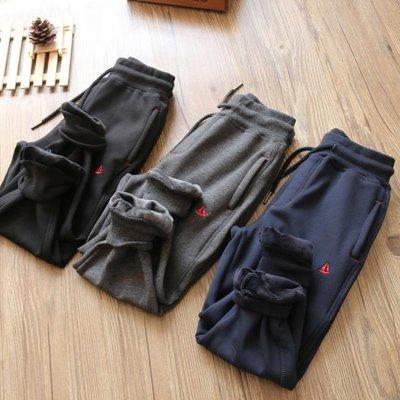 【Mr. Soar】 H458 冬季新款 歐美style童裝男童加絨運動褲長褲 中大童 現貨