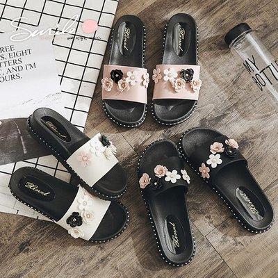 【V8997】SMILE-輕柔時尚.時尚一字拖平底外出防滑拖鞋