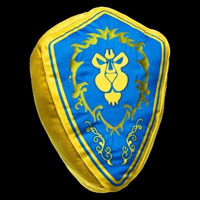 現貨【丹】暴雪商城_2018 暴雪嘉年華  World of Warcraft Faction 魔獸世界 聯盟 抱枕