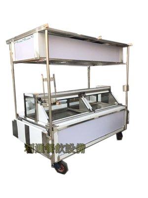 《利通餐飲設備》7尺-魯味展示櫥.滷味展示台 .烤肉串展示冰箱 冷藏冰箱 玻璃展示櫃 移動式攤車 車台 攤台