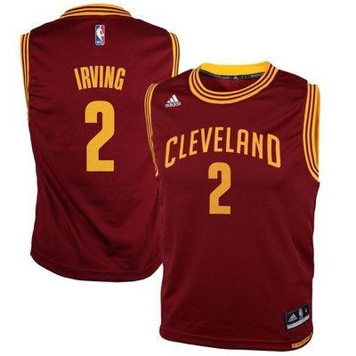 美版正品 Adidas NBA 克里夫蘭 騎士隊 厄文 2號 Kyrie Irving 球衣 兒童 大童 親子裝 青年版