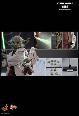 全新未開 Hottoys Star Wars Episode II 1/6 Attack of the Clones Yoda Hot Toys