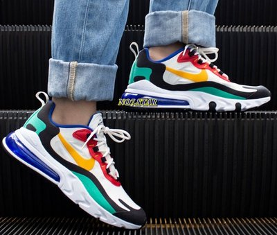 Nike Air Max 270 React 黃 綠 紅 藍色 氣墊 休閒 彩虹 黃勾 男女鞋 AO4971-002
