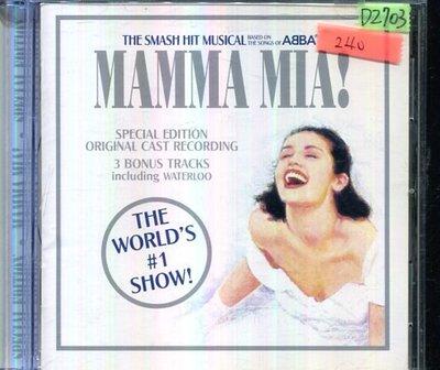 *還有唱片四館* MAMMA MIA! 二手 D2703