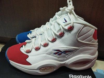 Reebok Question Mid Double Cross Allen Iverson 男性 籃球鞋 全新台灣公司貨 US 9