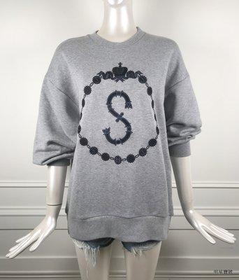 [我是寶琪] Swash London 灰色刺繡上衣