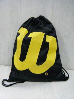 新莊新太陽 Wilson WTAB15330N10 多功能 簡易 防潑水 亮眼 背袋 束口袋 手套袋 黑 特350