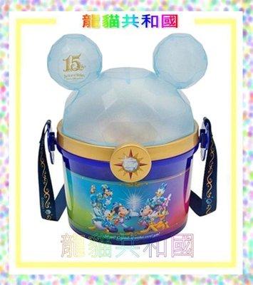 Disney日本東京迪士尼海洋15週年 立體米奇大頭造型爆米花桶 爆米花筒 置物桶 收納罐 水桶提包