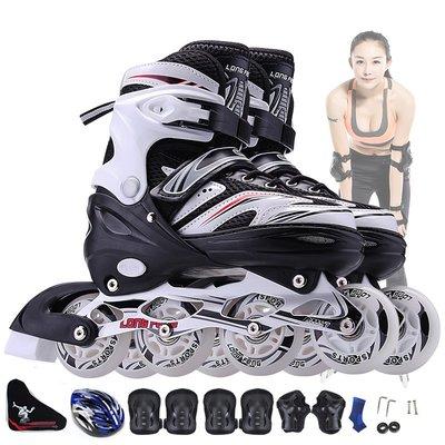 Sarah~迪卡儂官網溜冰鞋成人直排輪滑鞋兒童全套裝初學者滑旱冰男女童極