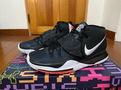 全新正品 NIKE KYRIE IRVING 6 EP JET BLACK 黑白 XDR 籃球鞋 BQ4631-001 男款 US10