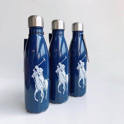 美國百分百【全新真品】Ralph Lauren Swell 聯名不鏽鋼保溫瓶 RL大馬 水壺 500ml 深藍 AX44