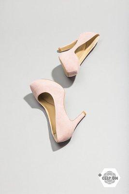 +CLIP ON 換飾鞋款 』9CM 圓頭高跟鞋-玫瑰粉