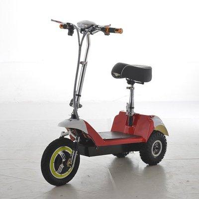 【36V.無刷/輪殼電機&36V鋰鐵電池】12吋3輪電動折疊滑板車~5秒快速折疊、輕鬆放入後車廂!好便攜、超節能
