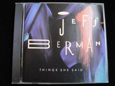 【198樂坊】Jeff Berman Things She Said(Moon & Silhouette..美版)DG