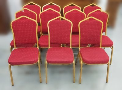 宏品二手家具館 全新中古傢俱拍賣 F61814*紅色布餐椅* 書桌椅 餐椅 新竹台北南投苗栗