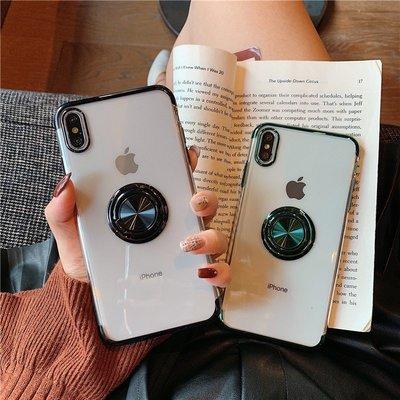 3C專賣#電鍍指環扣蘋果11手機殼iPhonex個性6s/7/8創意8plus透明7plus支架6sp/6p情侶11pr