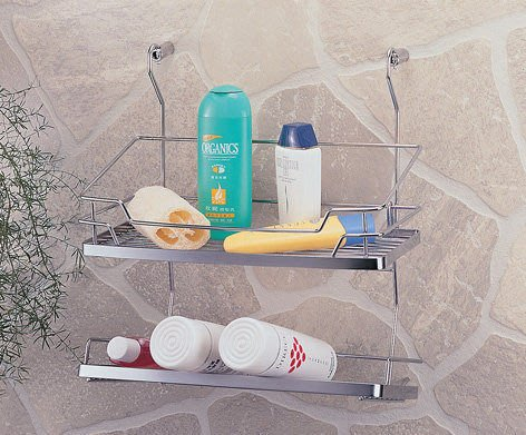 ☆成志金屬☆#304不鏽鋼調味料罐架S-400-2E,浴室瓶罐架,廚房置物架,設計大方,掛桿可用