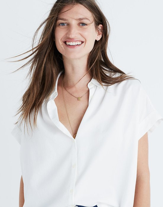 【BJ.GO】美國 madewell Central Shirt in Pure White 純白短袖襯衫