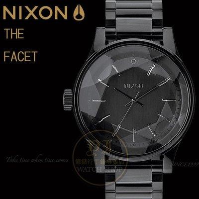 NIXON實體店The FACET閃耀光芒潮流腕錶/ALL BLACK原廠公司貨A384-001/禮物/聖誕節