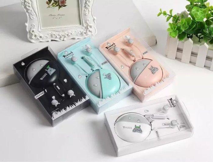 現貨龍貓卡通入耳式運動耳機  重低音耳機 可愛時尚耳機 迷你卡通耳機 手機電腦通用 贈送卡通可愛專屬龍貓收納盒nike
