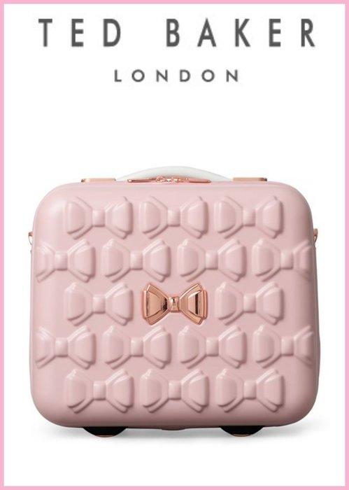 Ariel's Wish預購英國代購TED BAKER粉紅色蝴蝶結浮雕肩背手提登機箱硬殼筆電包行李箱倫敦限定版9/30寄
