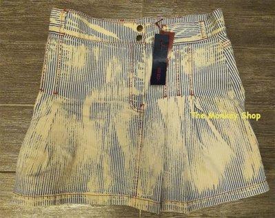 【 The Monkey Shop】1599元起標 經典好貨 全新正品 KENZO 刷白百摺造型牛仔短裙