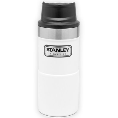 【【蘋果戶外】】Stanley 美國 10-06440 白 經典按壓式單手保溫杯 12oz 354ml 咖啡杯隨行杯