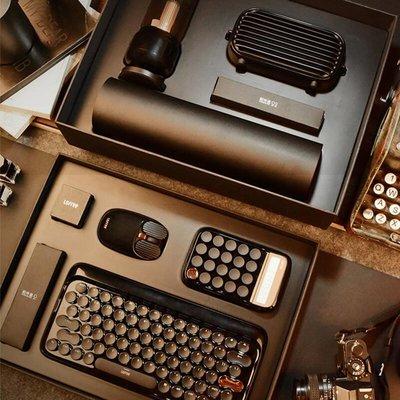 LOFREE洛斐 墨金黑色商務套裝 藍牙無線機械鍵盤 音箱 計算器 滑鼠