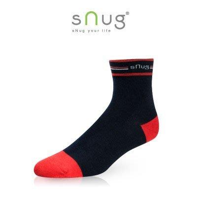 SNUG 休閒短襪 紅藍色 除臭襪 短襪  羽嵐服飾