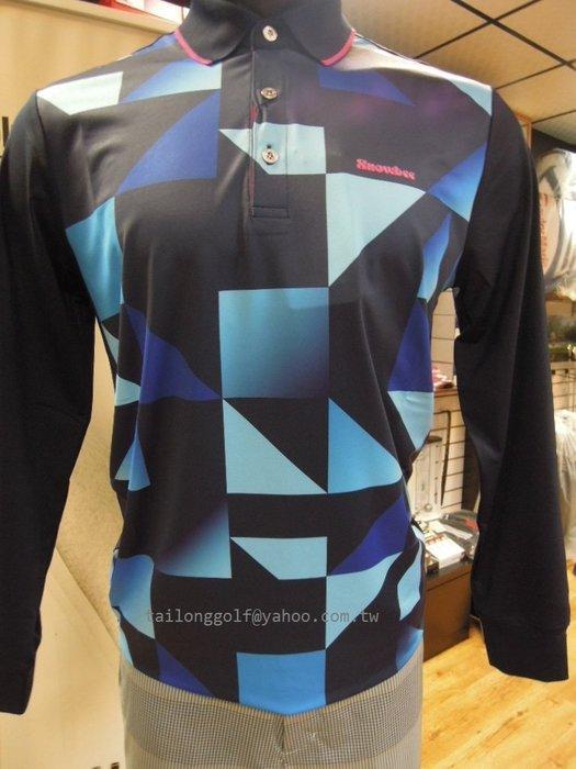新到貨 SnoWbee 秋冬款 幾何圖形長袖保暖POLO衫 運動時尚 潮流單品
