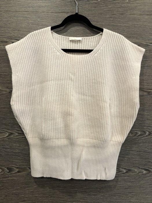 *金選名店*Chloe*粉白色暖手針織毛衣罩衫 S號