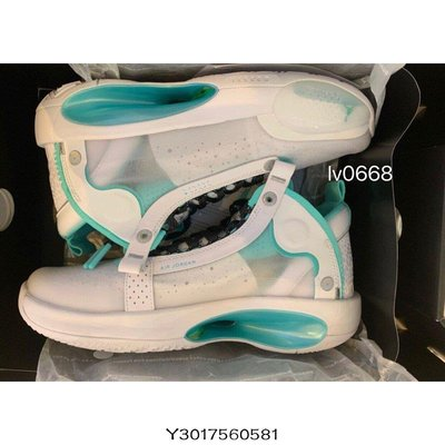 "Air Jordan 34 ""Snow Leopard""(GS)薄荷綠 郭艾倫 BQ3384-103休閒慢跑潮鞋"