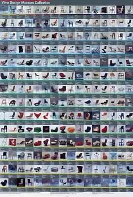 【挑椅子】 Vitra Design Museum Collection Poster 復刻版海報 XA-006