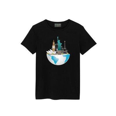 T365 世界 地標 倫敦眼 巴黎鐵塔 自由女神 雪梨歌劇院 T恤 男女皆可穿 多色同款可選 短T 素T 素踢 TEE