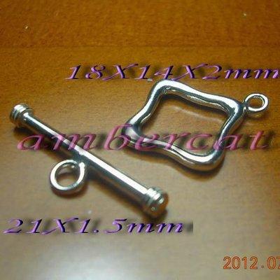 琥珀貓~【925純銀材料配件】OT扣~N8319~14X18mm菱形~一組