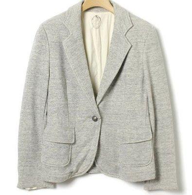 標標樂~~日本NOMBRE IMPAIR 高質感都會女伶實搭修身灰素色西裝外套 全新有吊牌(NO.1123)