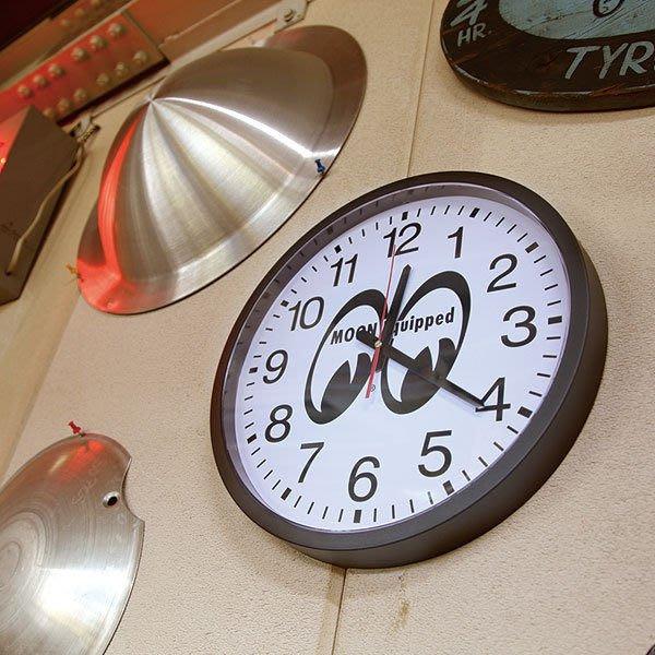 (I LOVE樂多)MOONEYES 經典LOGO牆壁掛鐘/時鐘