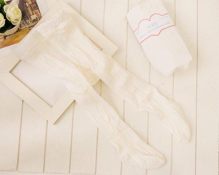 品牌PIACE超彈性純白羅紋花紋洋裝 小禮服內搭止滑褲襪