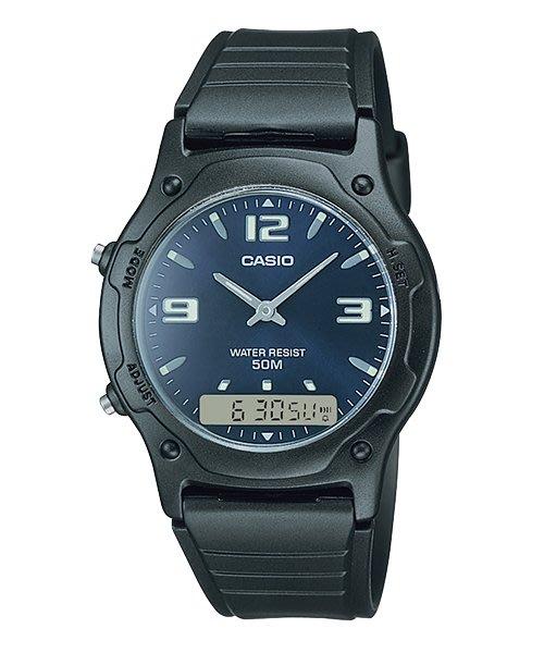 [ㄚ寶3C ] CASIO AW-49HE-2A 時尚潮流電子錶.雙顯錶.50M防水.1/100秒錶(附台灣原廠保證書)