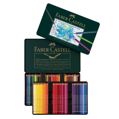 【紙百科】Faber-Castell 藝術家級水性色鉛筆 60色 (綠鐵盒)