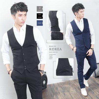 。SW。【K31177】正韓MR 韓國製 修身顯瘦 質感 彈性極佳 平滑西裝布 窄版雅痞 三件式 素面成套西裝 英倫GD