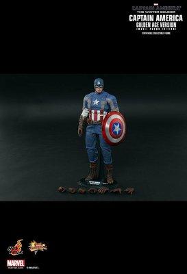 Hot toys MMS240 Captain America 美國隊長 Winter Soldier Golden Age Ver. 1/6 figure