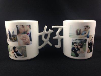 尼克卡樂斯家居精品~熱轉印好字創意陶瓷對杯 馬克對杯 情侶杯 婚禮禮物 生日禮物 情人節