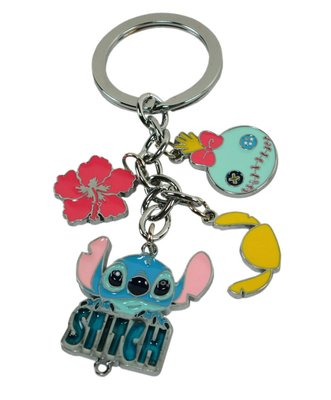 【卡漫迷】 史迪奇 串飾 鑰匙圈 造型 Stitch 吊飾環 醜ㄚ頭 扶桑花 星際寶貝 吊飾 扣環 掛飾 掛環